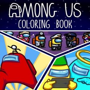 Libro colorear personajes Among Us