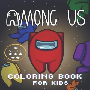 Libro para colorear de alta calidad para niños y niñas de personajes Among Us