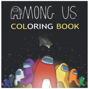 Libro para colorear multiples personajes Among Us