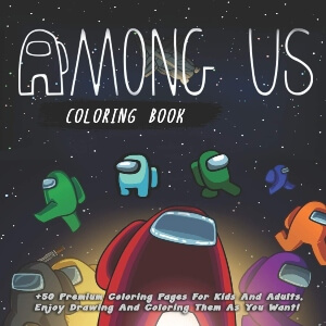 Libro para colorear para disfrutar dibujando y coloreando Among Us