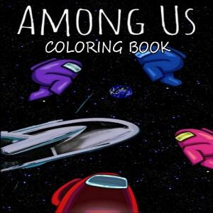 Libro para colorear personajes en el espacio Among Us