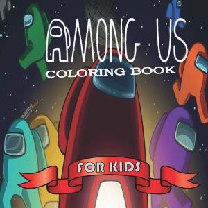 Libro para colorear personajes para ninos Among Us
