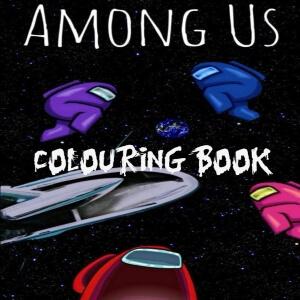 Libro para colorear personajes realistas en el espacio Among Us