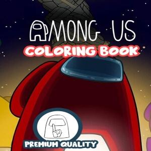 Libro para pintar calidad premium Among Us