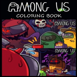 Libro para pintar personajes realistas en diferentes escenarios Among Us