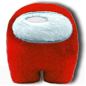 Mini peluche personaje rojo Among Us