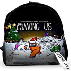 Mochila con aros Navidad Among Us