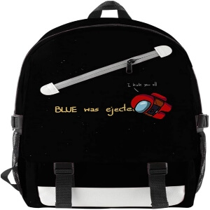 Mochila con dos cremalleras blue was ejected Among Us