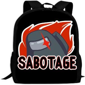 Mochila escolar impostor sabotage Among Us