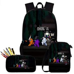 Pack de mochila, bolsa de almuerzo y estuche Halloween Among Us