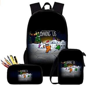 Pack de mochila, bolsa de almuerzo y estuche Navidad Among Us
