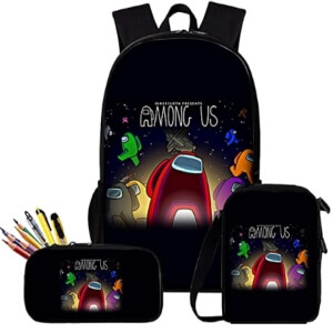 Pack de mochila, bolsa de almuerzo y estuche logo Among Us
