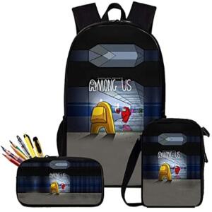 Pack de mochila, bolsa de almuerzo y estuche pasillo Among Us
