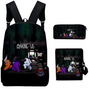 Pack de mochila, estuche y bandolera Halloween Among Us