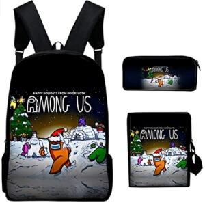 Pack de mochila, estuche y bandolera Navidad Among Us