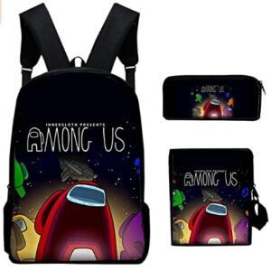 Pack de mochila, estuche y bandolera logo Among Us