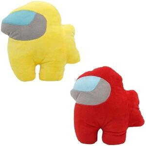 Pack peluche personaje rojo y personaje amarillo Among Us