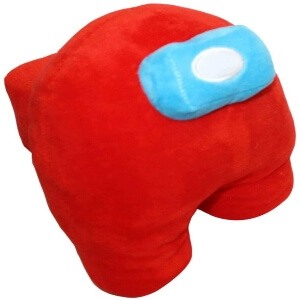 Peluche personaje rojo con mochila y ojos 3D Among Us