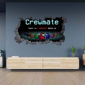 Poster con efecto agujero roca crewmate Among Us