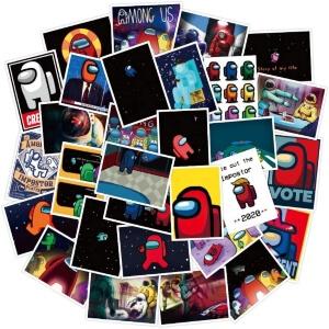Stickers cuadrados Among Us