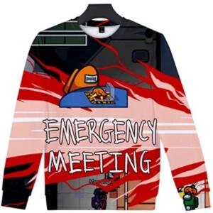 Sudadera casual sin capucha emergency meeting Among Us