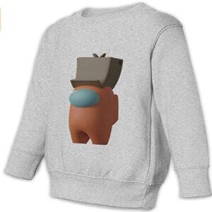 Sudadera casual sin capucha personaje 3D con gorro Among Us