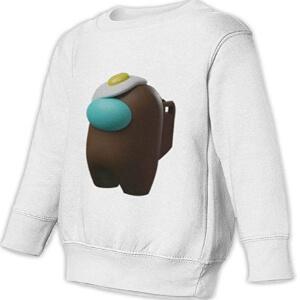 Sudadera casual sin capucha personaje 3D con huevo Among Us