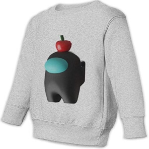 Sudadera casual sin capucha personaje 3D con manzana Among Us