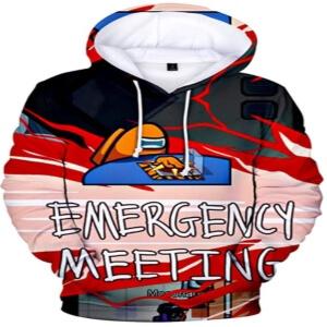 Sudadera con capucha emergency meeting Among Us