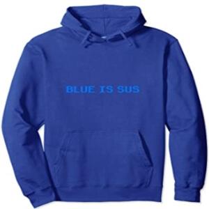 Sudadera con capucha y sin cremallera blue is sus fila Among Us