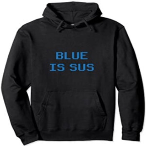 Sudadera con capucha y sin cremallera blue is sus horizontal Among Us