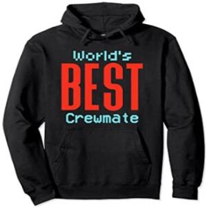 Sudadera con capucha y sin cremallera world's best impostor letras rojas Among Us