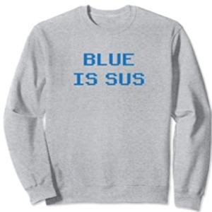 Sudadera sin capucha blue is sus horizontal Among Us
