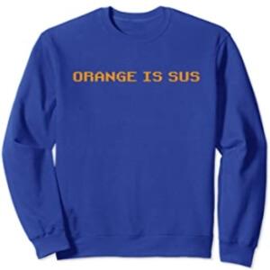 Sudadera sin capucha orange is sus fila Among Us