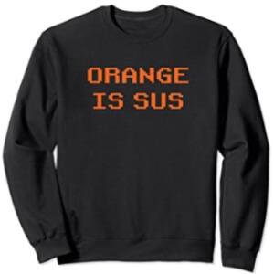 Sudadera sin capucha orange is sus horizontal Among Us