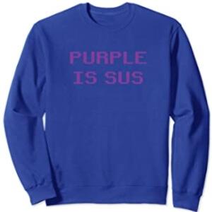 Sudadera sin capucha purple is sus horizontal Among Us