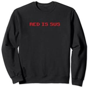 Sudadera sin capucha red is sus fila Among Us