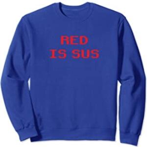 Sudadera sin capucha red is sus horizontal Among Us