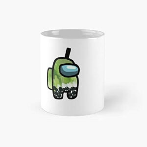 Taza personaje verde matcha latte Among Us