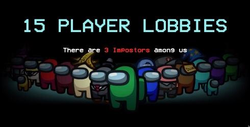 Actualización más reciente de Among Us partidas de 15 jugadores