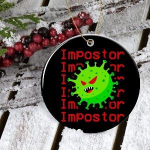 Adorno Navidad covid impostor Among Us