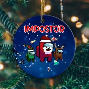 Adorno Navidad impostor Among Us