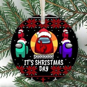 Adorno Navidad it's shirstmas day Among Us