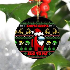 Adorno Navidad santa seems sus to me Among Us