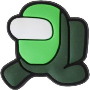 Adorno para zapatos personaje verde Among Us