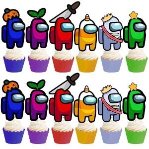 Adornos Among Us para cupcakes