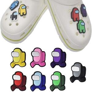 Adornos para zapatos con agujeros Among Us