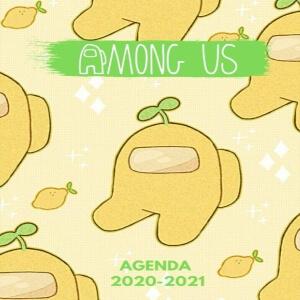Agenda 2021 personajes amarillos con limones Among Us
