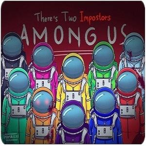 Alfombrilla personajes astronautas realistas Among Us