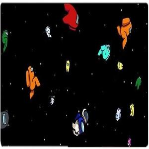 Alfombrilla personajes en el espacio Among Us